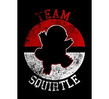 Pokeball Silhouette - Team Squirtle Photographic Print