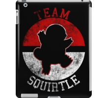 Pokeball Silhouette - Team Squirtle iPad Case/Skin