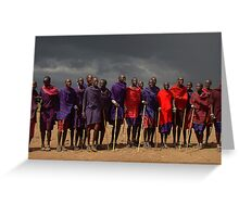 MASAI MEN - KENYA Greeting Card