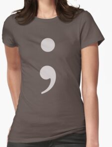 Semicolon - ; Womens Fitted T-Shirt