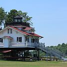 Roanoke River lighthouse by D R Moore