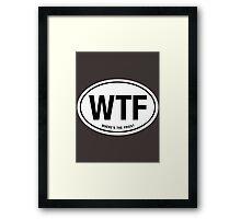 WTF Framed Print