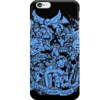 Old Friends (blue) iPhone Case/Skin