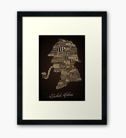 Sherlock Holmes The Canon Framed Print