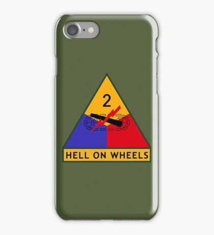 2nd Armored Division (United States) iPhone Case/Skin