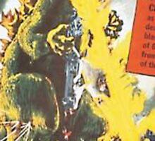 GODZILLA! - Retro Poster Sticker