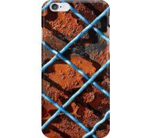 Vintage net background of rusty iron net iPhone Case/Skin