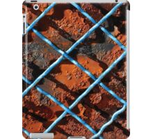 Vintage net background of rusty iron net iPad Case/Skin