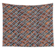 Vintage net background of rusty iron net Wall Tapestry