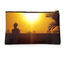 Cool man at sunset in Cartagena Colombia Studio Pouch