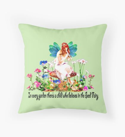 In every garden...  Throw Pillow