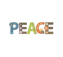 Peace Word Floral Pattern Illustration by EveStock