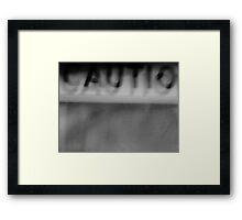 Night Motion I: Caution Framed Print