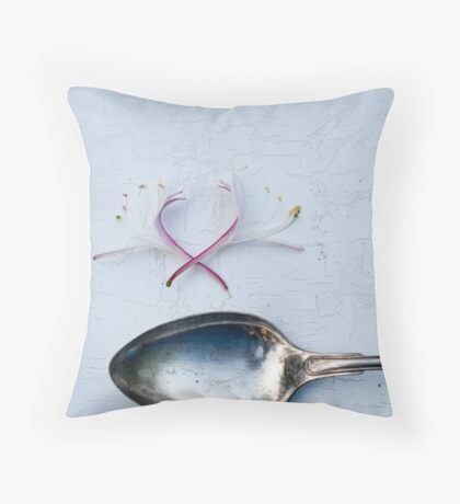 Spoon and Honeysuckle Throw Pillow