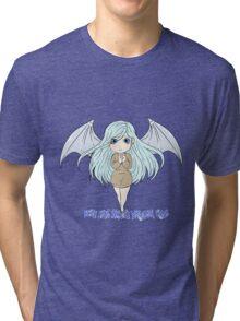 Yu-Gi-Oh! Kisara blue eyes white dragon lady Tri-blend T-Shirt