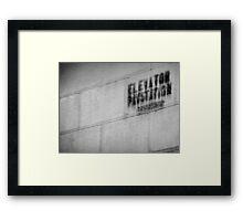 Night Motion VII: Stenciled Framed Print