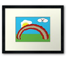 Bacon Rainbow Framed Print