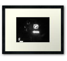 Night Motion XI: Blinding Turns Framed Print