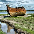 Wyre Estuary  Wrecks  by Lilian Marshall