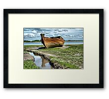 Wyre Estuary  Wrecks  Framed Print
