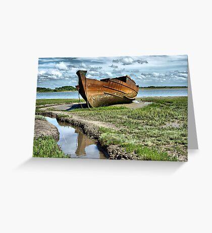 Wyre Estuary  Wrecks  Greeting Card