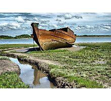 Wyre Estuary  Wrecks  Photographic Print