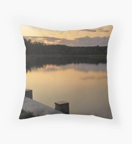 sunset above the exeter river, nh Throw Pillow
