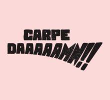 Carpe DAAAAAMN!! (Black) Kids Tee