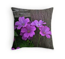 Gated flowers Throw Pillow
