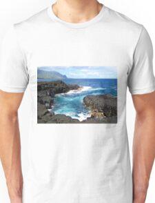 Blue Ocean Waters of Queens Bath on Kauai Hawaii Unisex T-Shirt
