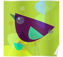 Abstract Purple Bird Poster