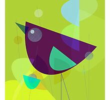 Abstract Purple Bird Photographic Print