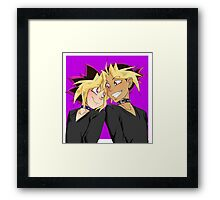 Atem-Yugi puzzleshipping Yu-Gi-Oh! Framed Print