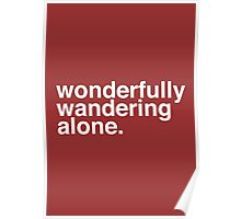 Wandering Alone. Poster