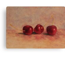 Three cherries Canvas Print