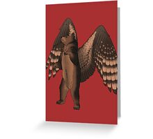 Bear with Wings Greeting Card