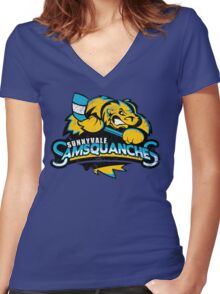 Sunnyvale Samsquanches Women's Fitted V-Neck T-Shirt