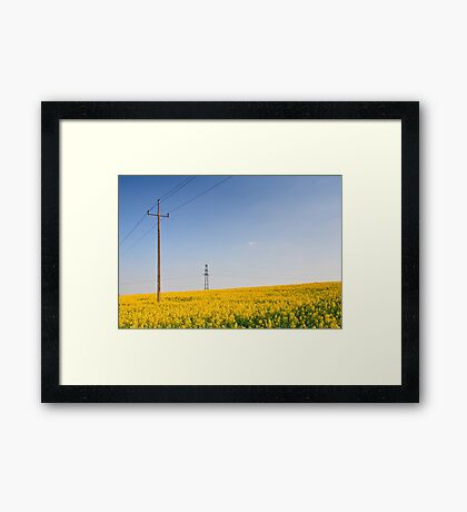 Yellow Electricity  Framed Print