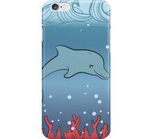 Dolphin swimming underwater iPhone Case/Skin