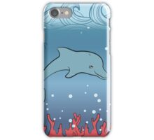 Dolphin swimming underwater iPhone Case/Skin