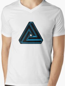 Futuristic Geometry Mens V-Neck T-Shirt