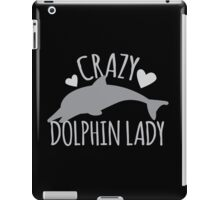 CRAZY Dolphin lady iPad Case/Skin