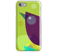 Abstract Purple Bird iPhone Case/Skin