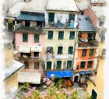 Vernazza Italy in the Cinque Terra by Edward Fielding