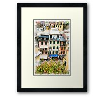 Vernazza Italy in the Cinque Terra Framed Print