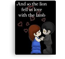 The Lion And The Lamb Canvas Print