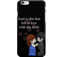 The Lion And The Lamb iPhone Case/Skin