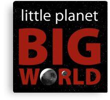 Little Planet, Big World  Canvas Print