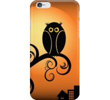 Cute Owls on Tree Illustration iPhone Case/Skin