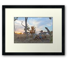 Gathering Bunches Of Wheat. Framed Print